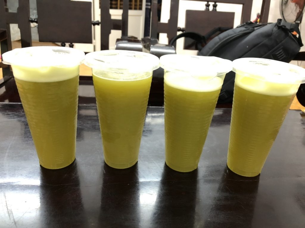 Sugarcane juice color after defrozen 4 days